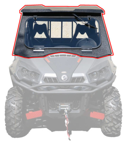 All Steel Complete Cab Enclosure System No Doors Can-Am 14-19 Commander