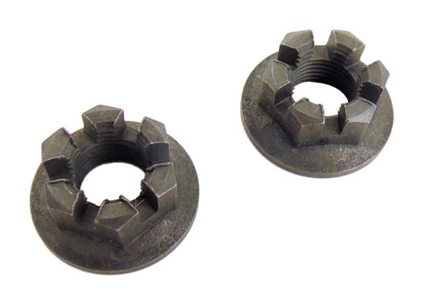 2 Front Axle Hub Castle Crown Nut 14mmX1.50 08-09 Yamaha YFM 250 YFM250 Big Bear