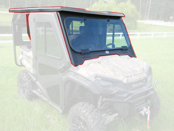 Steel Cab Enclosure NoDoor Front Rear Roof 16-20 for Honda Pioneer SXS1000 5Seat