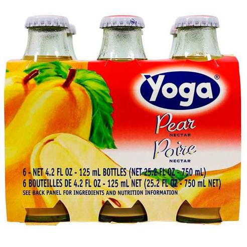 Pear Nectar, Yoga, Italy, 6 Bottles x 4.2 fl oz each (125 ml each)