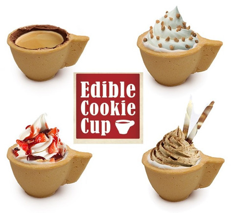 Edible Cookie Coffee Cups - 4 units