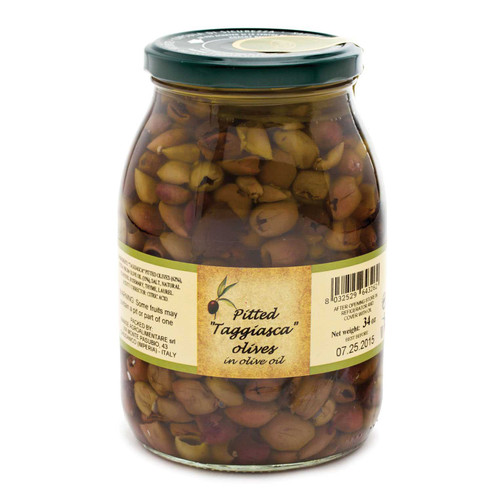 Black Pitted Olives in Oil, Taggiasca, Italy, (2 LB)