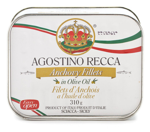 Anchovy Filets In Olive Oil Tin, Recca, Sicily, Italy,  11 oz