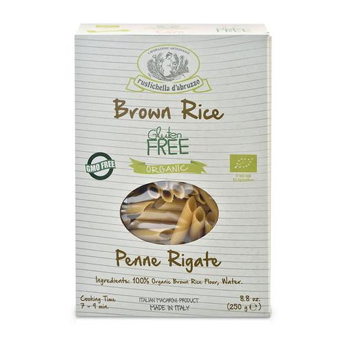 Pasta Penne Brown Rice, Gluten Free, Rustichella, 8.8 oz.