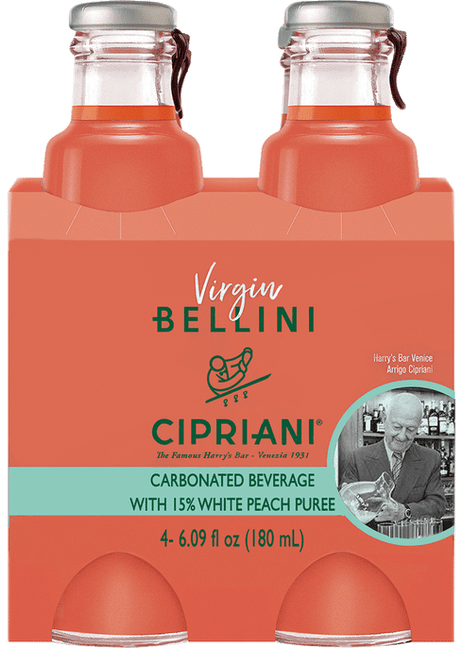 Bellini Peach Soda (4 Bottles), Cipriani, Italy,  6 oz