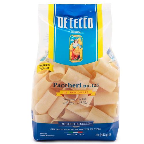 Pasta Paccheri #125, De Cecco, Abruzzo, 1.1 lb (500g)