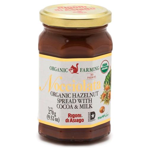 Organic Hazelnut Spread, Cocoa & Milk, Nocciolata, Asiago, 9.52 oz (270 g)