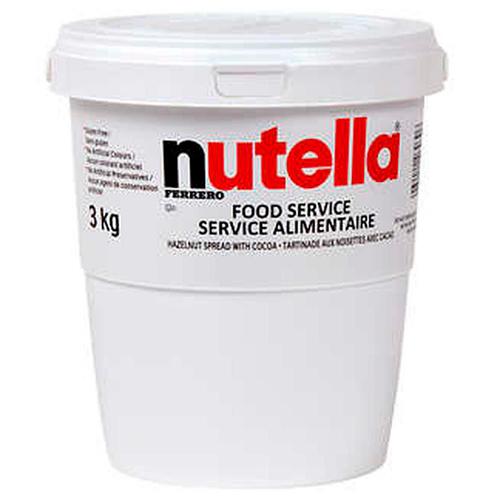 Nutella Hazelnut Spread, Pail, Ferrero, Italy, 6.6lb (3 kg)