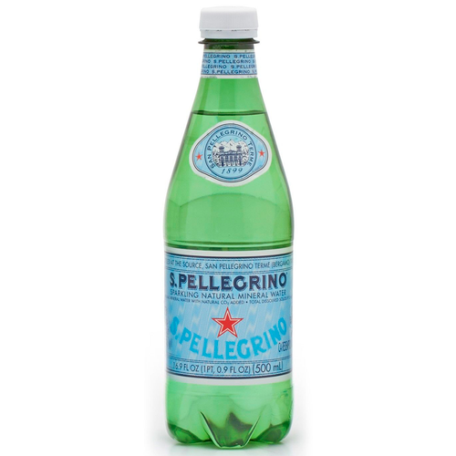 Sparkling Natural Mineral Water, Pet, 1 Bottles, Sanpellegrino, Bergamo, Italy, 16.9 fl oz (500 ml)