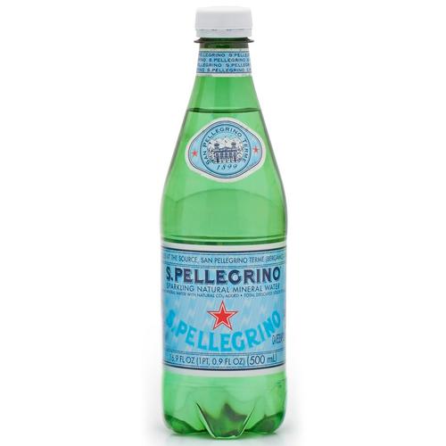 Sparkling Natural Mineral Water, Pet, 1 Bottle, Sanpellegrino, Bergamo, Italy, 16.9 fl oz (500 ml)
