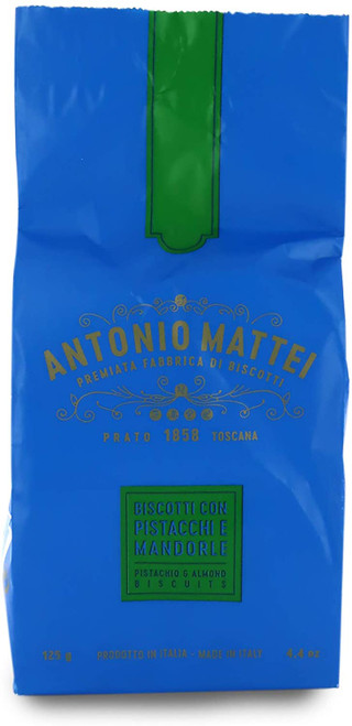 Biscotti With Pistachio And Almond, Antonio Mattei, Toscana, Italy, 4.4 oz (125 gr)