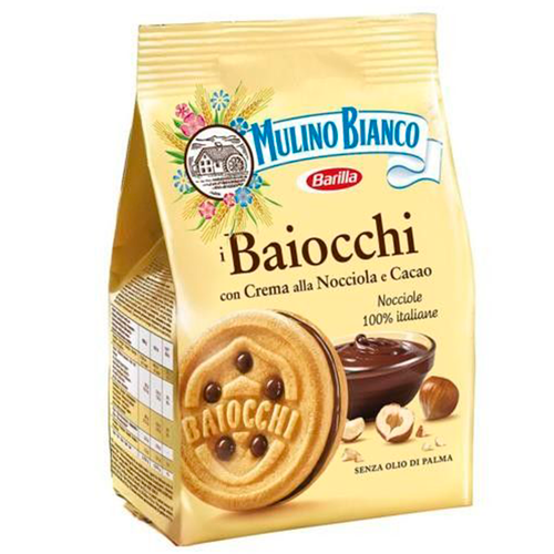 Cookies Baiocchi Hazelnut And Cocoa, Mulino Bianco, Italy,  9.17 oz (260g)