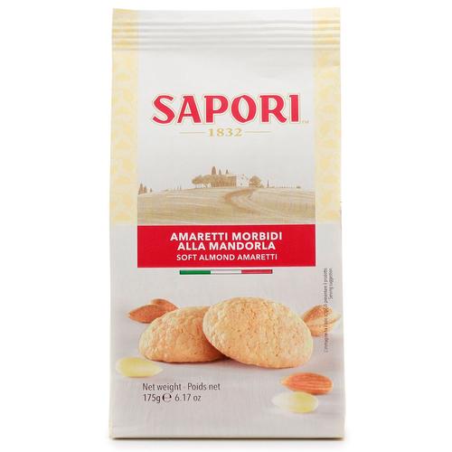 Amaretti Soft Almond, Amaretti Morbidi Alla Mandorla, Sapori , Italy, 6.17 oz (175 g)