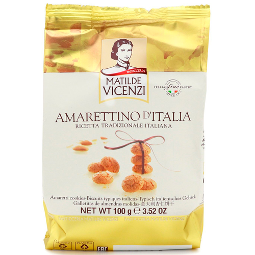 Amarettino Mini Cookies With Almonds, Vicenzi, Italy, 3.52 oz (100 g)