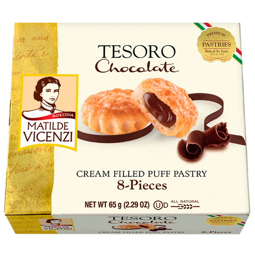Puff Pastry Filled With Chocolate Cream, Tesoro, Italy, 2.29 oz (65 g)