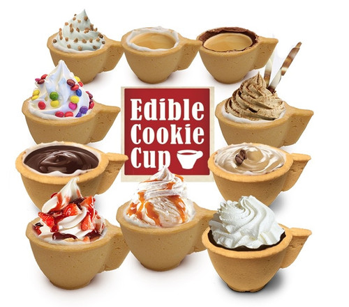 Edible Cookie Coffee Cups - 36 units