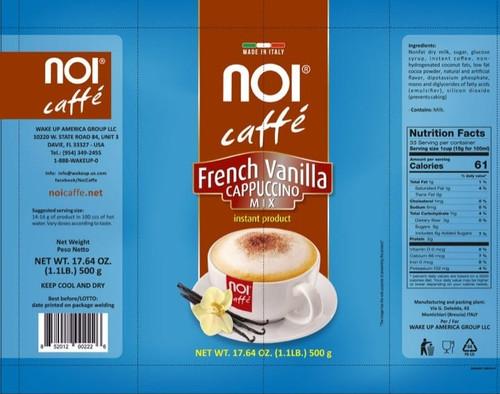 Cappuccino French Vanilla, Napoli, Italy, Noi Caffe (1.1lbs)