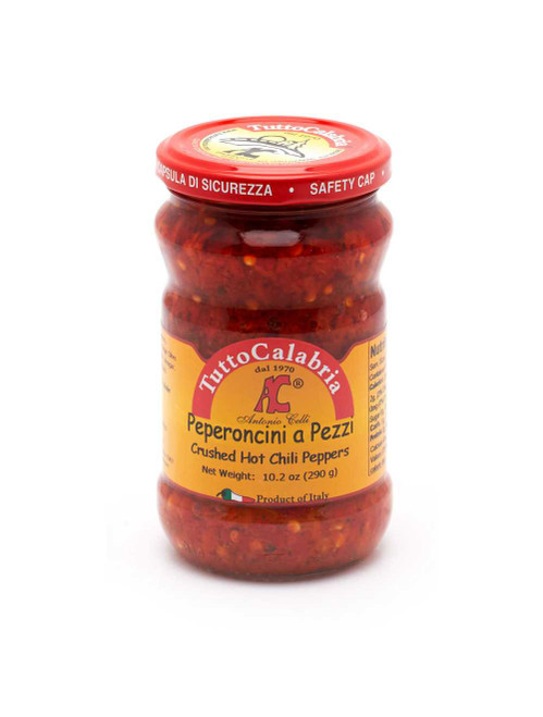 Chili Hot Peppers Crushed, TuttoCalabria, Italy, 10.2 Oz