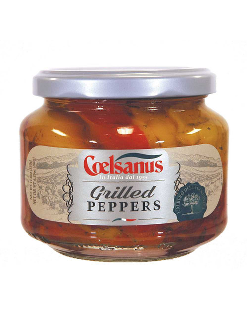 Grilled Peppers in oil, Coelsanus,  Italy (12 oz)