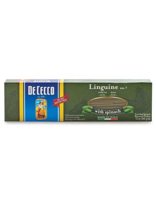 Spinach Linguine #7S, De Cecco, Abruzzo, 1.1 lb (500g)