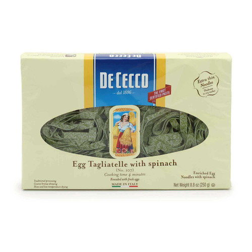 Spinach Tagliatelle #107, De Cecco, Abruzzo, 1.1 lb (500g)