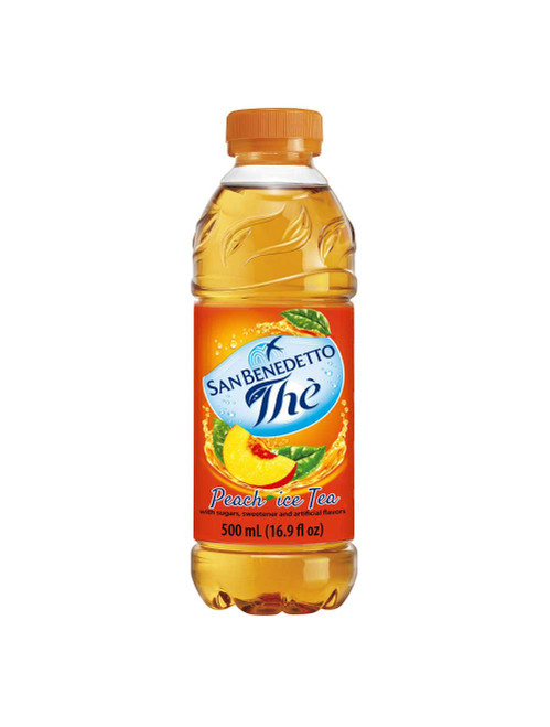 Peach Iced Tea, San Benedetto, Italy, 16.9 fl oz (500ml)