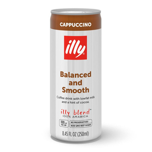 Cappuccino Ready to Drink, Illy, Can 12/8.5 oz