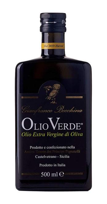 Extra Virgin Olive Oil, Olio Verde,  Castelvetrano, Sicily, 16.9 oz.