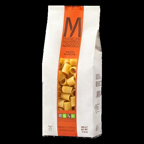 Pasta Mezze Maniche,  Mancini,  Le Marche-Italy, 1.1 lb (500 g)