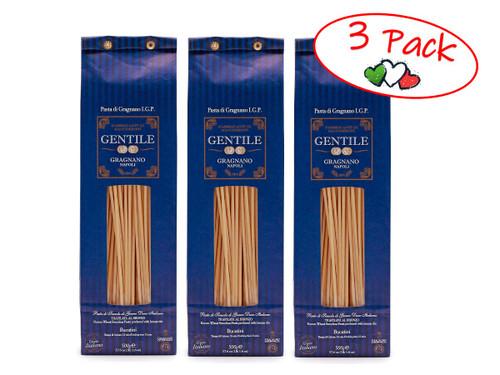 Pasta Bucatini,  Gentile, Gragnano-Napoli, 1.1 lb (500 g) - 3 PACK