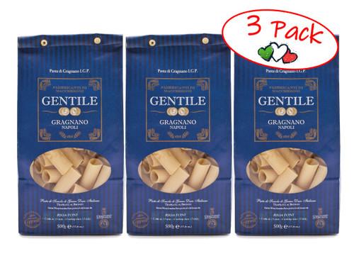 Pasta Rigatoni, Gentile, Gragnano-Napoli, 1.1 lb (500 g) - 3 PACK