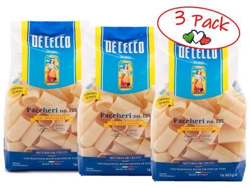 Pasta Paccheri #125, De Cecco, Abruzzo, 1.1 lb (500g) - 3 PACK
