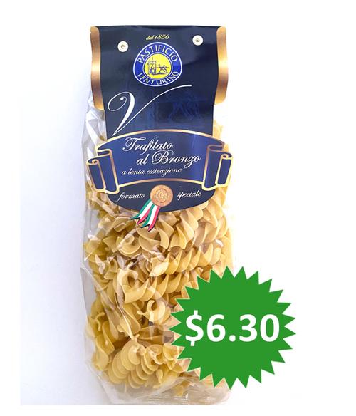 Pasta Eliche, Pastificio Venturino, Salerno-Italy, 1.1 lb (500g)