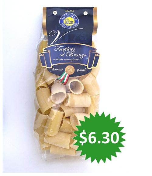 Pasta Paccheri Pastificio Venturino, Salerno-Italy, 1.1 lb (500g)