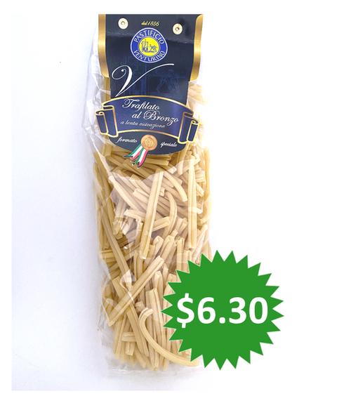 Pasta Strozzapreti Pastificio Venturino, Salerno-Italy, 1.1 lb (500g)