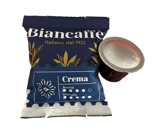 Espresso Coffee Capsule  Crema, Napoli, Italy, Biancaffe, (50 capsules)