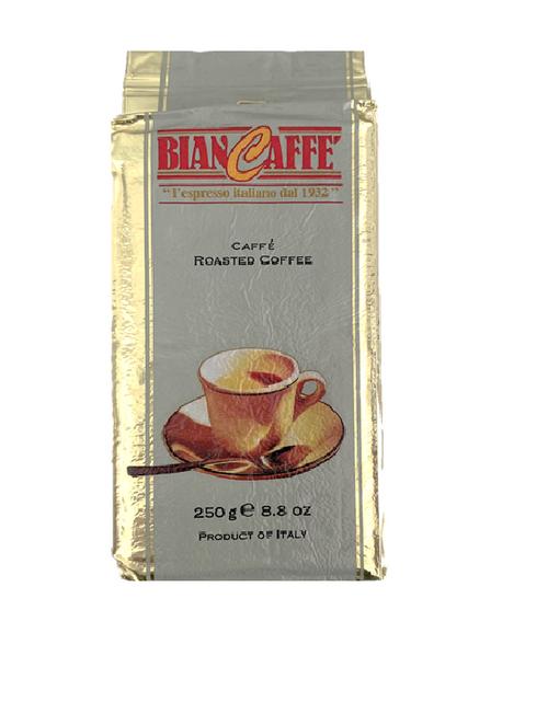 Espresso Coffee, Ground, Roasted, Biancaffe Italy, 8.8 oz  (250g)