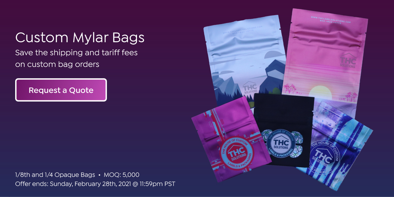 Custom mylar bag promotion