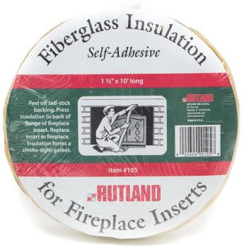 Fiberglass Fireplace Insert Insulation - Self Adhesive