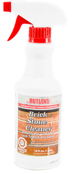 Fireplace Brick and Stone Cleaner by Rutland