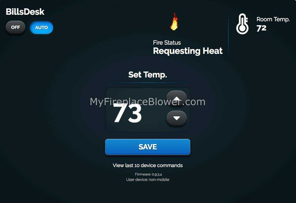 Control Fireplace with Smartphone