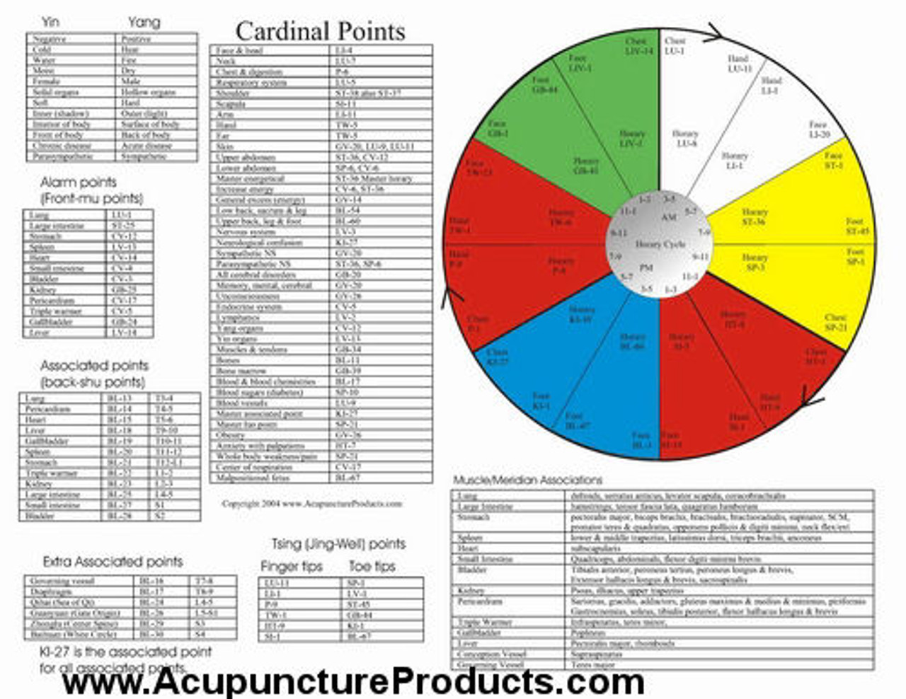 The Five Element Acupuncture Poster - Clinical Charts and ...