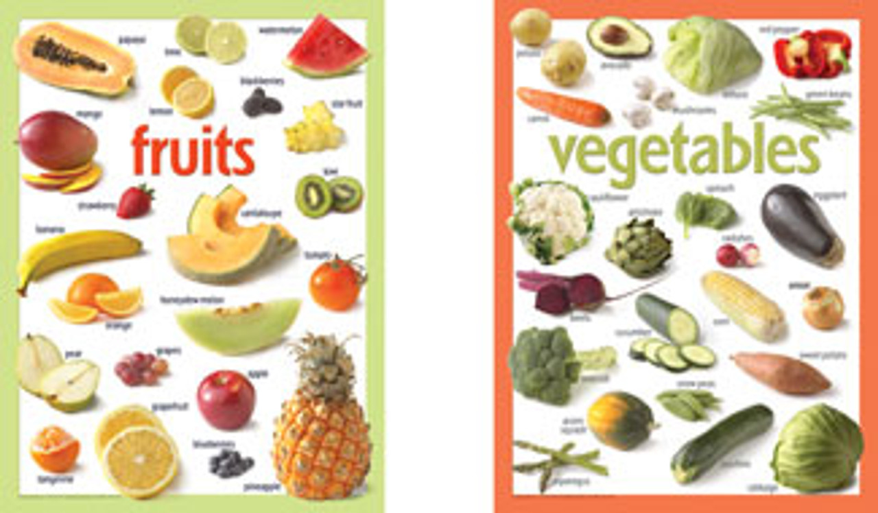 Fruit and Vegetable Poster Set
