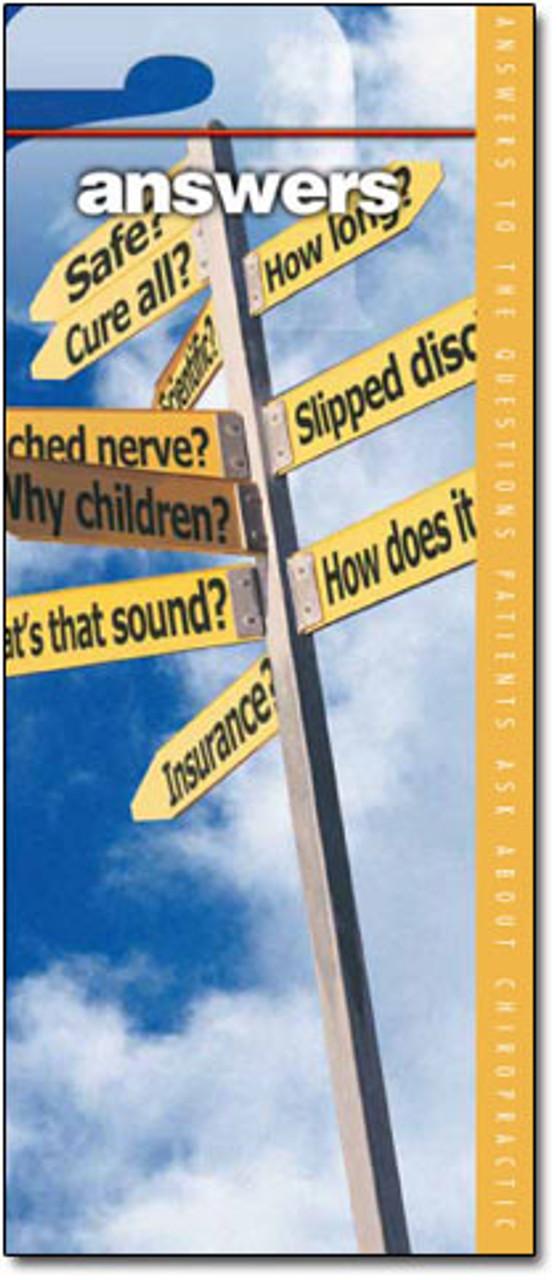 Chiropractic Questions Brochure
