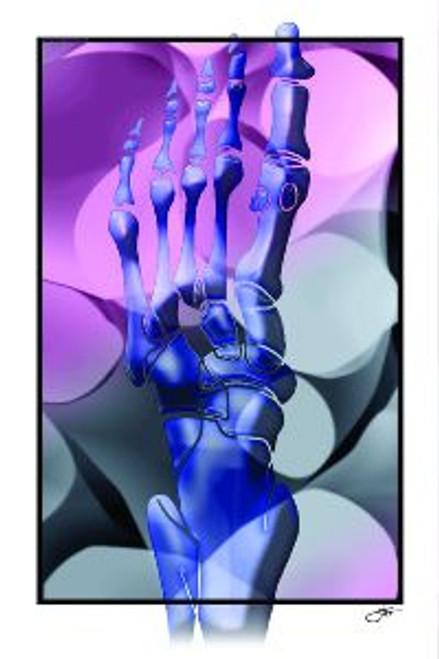 Foot Art poster Purple