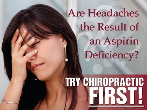 Female headache poster