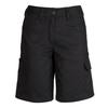 ZWL011 - Womens Plain Utility Short Black Front