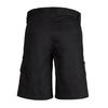 ZWL011 - Womens Plain Utility Short Black Back