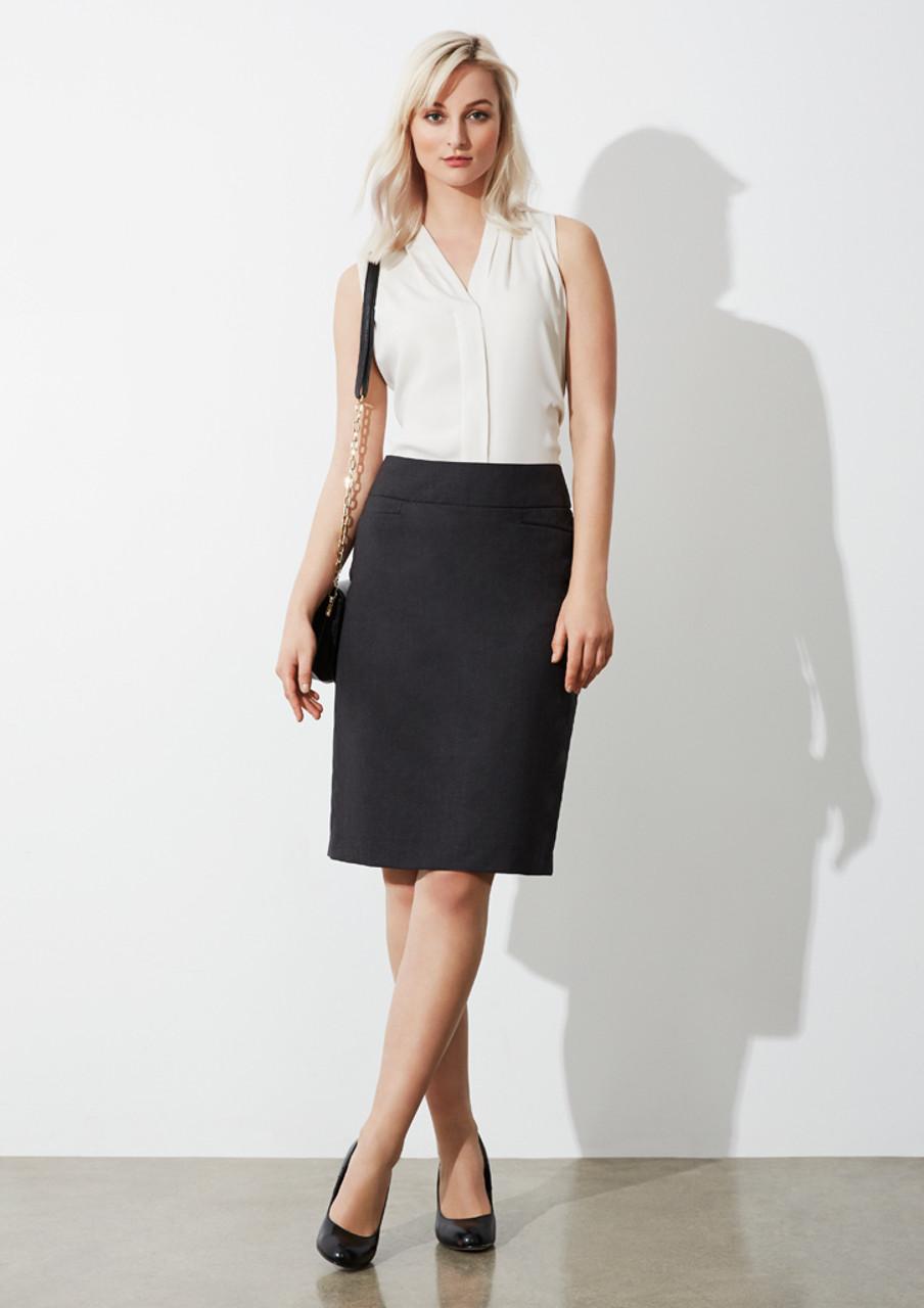 7878698669 BS128LS - Ladies Classic Knee Length Skirt - Online Workwear