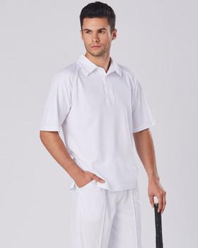 PS29 - Mens Short Sleeve Cricket Polo